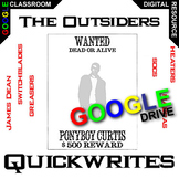 THE OUTSIDERS Journal - Quickwrite Writing Prompts (Create