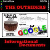THE OUTSIDERS Sodapop's Cake Recipe - Non-Fiction (Created
