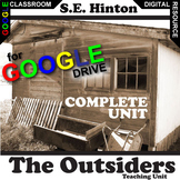 THE OUTSIDERS Unit Novel Study (Hinton) - Literature Guide (Created for Digital)