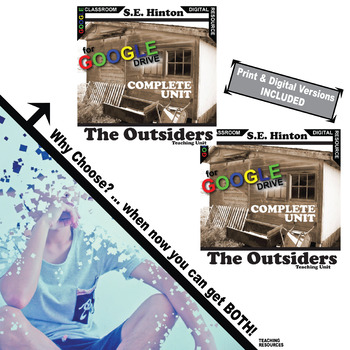 THE OUTSIDERS Unit Novel Study - Literature Guide (Print & Digital Included)