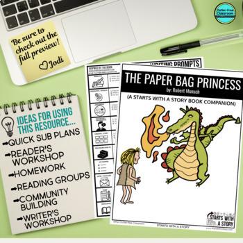 THE PAPER BAG PRINCESS read aloud lessons