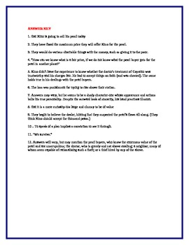 THE PEARL by John Steinbeck Chapter IV Study Guide Questions w/key