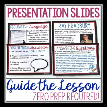 THE PEDESTRIAN BY RAY BRADBURY (SHORT STORY PRESENTATION & ACTIVITIES)