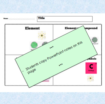THE PERIODIC TABLE – PowerPoint + Review Questions + Handout