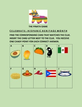 HISPANIC HERITAGE MONTH-PINATA GAME
