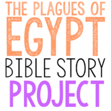 THE PLAGUES OF EGYPT: Bible Story Brochure Project Activity, Old Testament