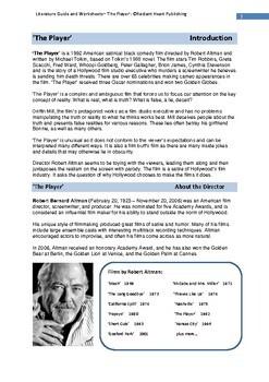THE PLAYER-Robert Altman film Worksheets for Teachers
