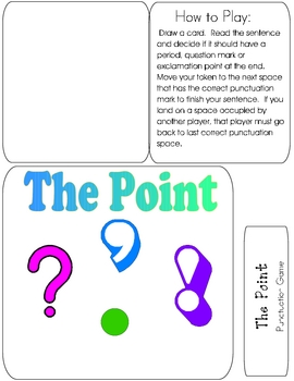 THE POINT File Folder Game - Ending PUNCTUATION
