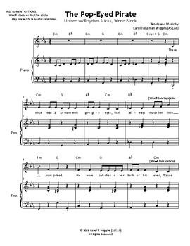 THE POP-EYED PIRATE (Unison)