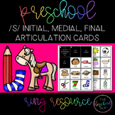 THE PRESCHOOL SLP: Articulation Cards Resource Ring /s/ initial, medial, final