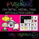 THE PRESCHOOL SLP: Articulation Cards Resource Ring /sh/ initial, medial, final