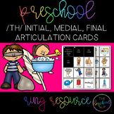THE PRESCHOOL SLP: Articulation Cards Resource Ring /th/ initial, medial, final