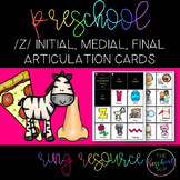 THE PRESCHOOL SLP: Articulation Cards Resource Ring /z/ in