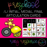 THE PRESCHOOL SLP: Articulation Cards Resource Ring /l/ in