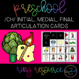 THE PRESCHOOL SLP: Articulation Cards Ring Resource /ch/ i
