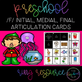 THE PRESCHOOL SLP: Articulation Cards Ring Resource /f/ initial, medial, final