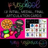 THE PRESCHOOL SLP: Articulation Cards Ring Resource /j/ initial, medial, final