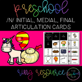 THE PRESCHOOL SLP: Articulation Cards Ring Resource /n/ initial, medial, final