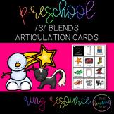THE PRESCHOOL SLP: Articulation Cards Ring Resource /s/ blends initial