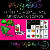 THE PRESCHOOL SLP: Articulation Cards Ring Resource /t/ initial, medial, final