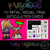 THE PRESCHOOL SLP: Articulation Cards Ring Resource /v/ initial, medial, final