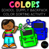 Color Sorting Categories: Speech, Back to School, Preschoo