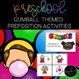 THE PRESCHOOL SLP: Bubble Gum Prepositions Activities Pack