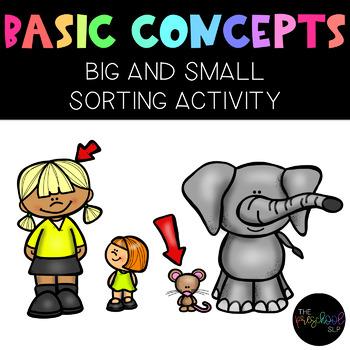 THE PRESCHOOL SLP: Concepts Big & Small Sorting Activity