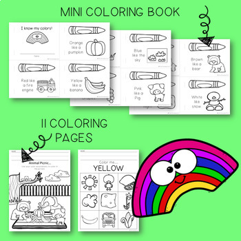 THE PRESCHOOL SLP: Learning Colors Using Associations Activity Pack