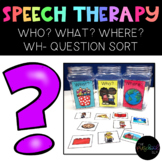 THE PRESCHOOL SLP: Person, Place or Thing WH- Question Sort