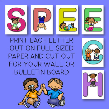 THE PRESCHOOL SLP: Speech Bulletin Board Topper FREEBIE