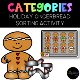 Speech Therapy: Christmas Holiday Gingerbread Cookie Category Sorting Activity