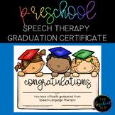 THE PRESCHOOL SLP: Speech Therapy Graduation Certificate FREEBIE