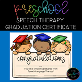 THE PRESCHOOL SLP: Speech Therapy Graduation Certificate FREEBIE