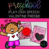 THE PRESCHOOL SLP: Speech Therapy Play-Doh Valentine FREEBIE