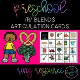 THE PRESCHOOL SLP: Articulation Cards Ring Resource /r/ blends initial