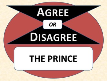 THE PRINCE - Agree or Disagree Pre-reading Activity