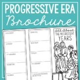 THE PROGRESSIVE ERA Research Brochure Template, American History Project