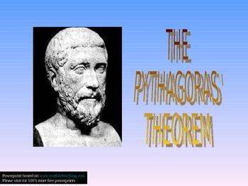 THE PYTHAGORAS' THEOREM
