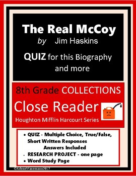 THE REAL MCCOY Biography Quiz and More