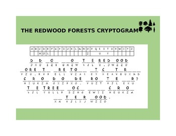 THE REDWOOD FORESTS CRYPTOGRAM