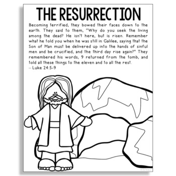Religious Easter Coloring Pages Worksheets Teaching Resources Tpt