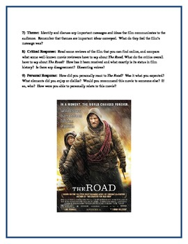 THE ROAD - Film components paper