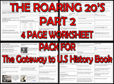 THE ROARING 20's PART 2. FOUR PAGE PACK for The Gateway to
