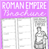 THE ROMAN EMPIRE Research Brochure Template, World History Project