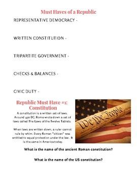 THE ROMAN & US REPUBLIC
