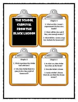 THE SCHOOL CARNIVAL FROM THE BLACK LAGOON - Thaler  - Discussion Cards