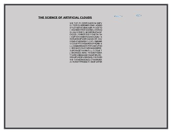 THE SCIENCE OF ARTIFICIAL CLOUDS WORD SEARCH