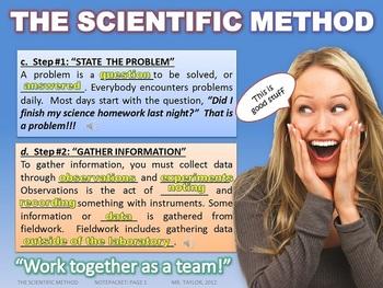 THE SCIENTIFIC METHOD: POWERPOINT