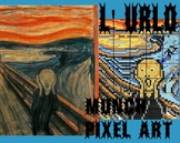 THE SCREAM OF Munch, 35 grids, MAXI POSTER